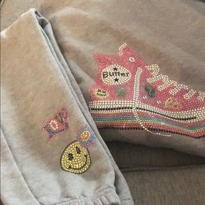 Girls butter zippered hoodie and pants
